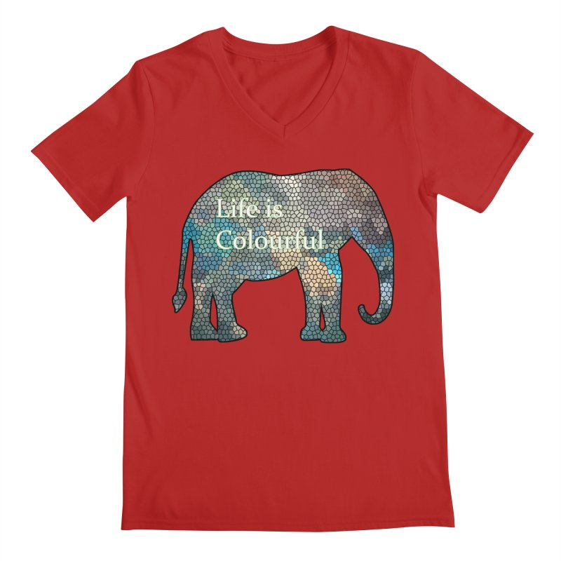 Elephant Mosaic Men's V-Neck by mirrortail's Shop
