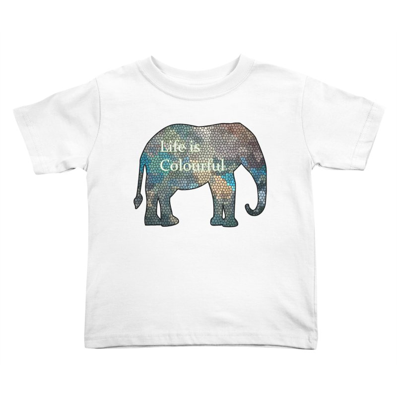 Elephant Mosaic Kids Toddler T-Shirt by mirrortail's Shop