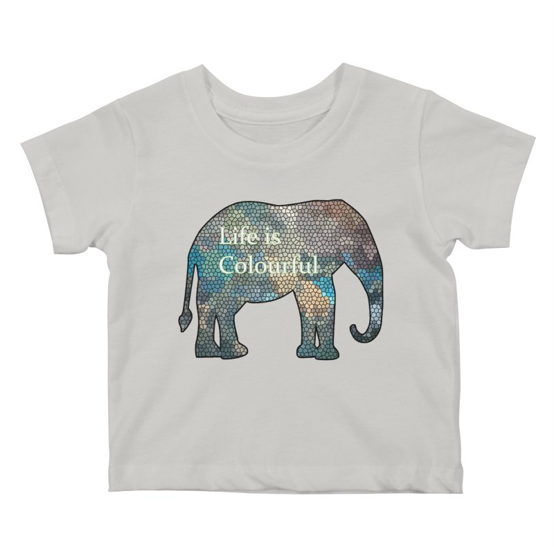 Elephant Mosaic Kids Baby T-Shirt by mirrortail's Shop