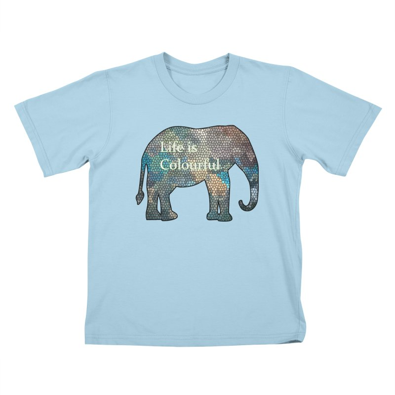 Elephant Mosaic Kids T-Shirt by mirrortail's Shop