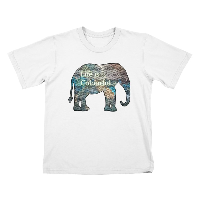 Elephant Mosaic Kids T-Shirt by mirrortail's Shop