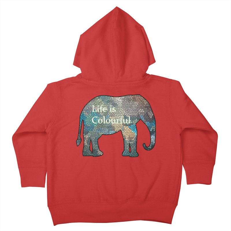 Elephant Mosaic Kids Toddler Zip-Up Hoody by mirrortail's Shop