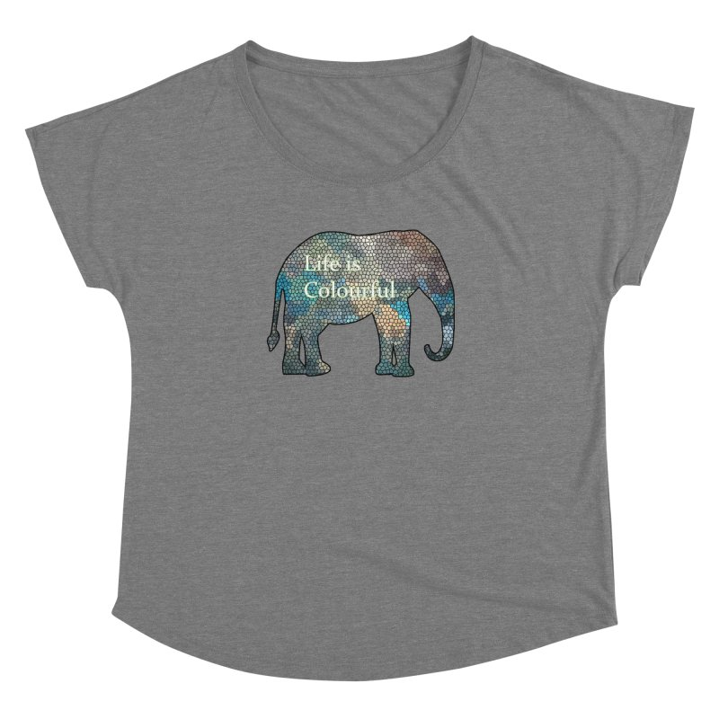Elephant Mosaic Women's Dolman by mirrortail's Shop