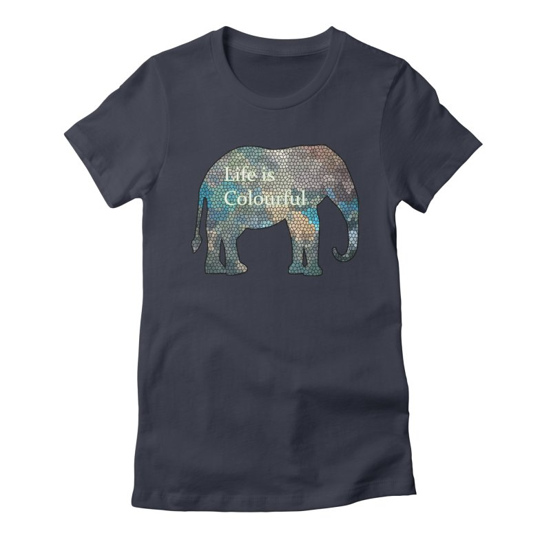 Elephant Mosaic Women's Fitted T-Shirt by mirrortail's Shop