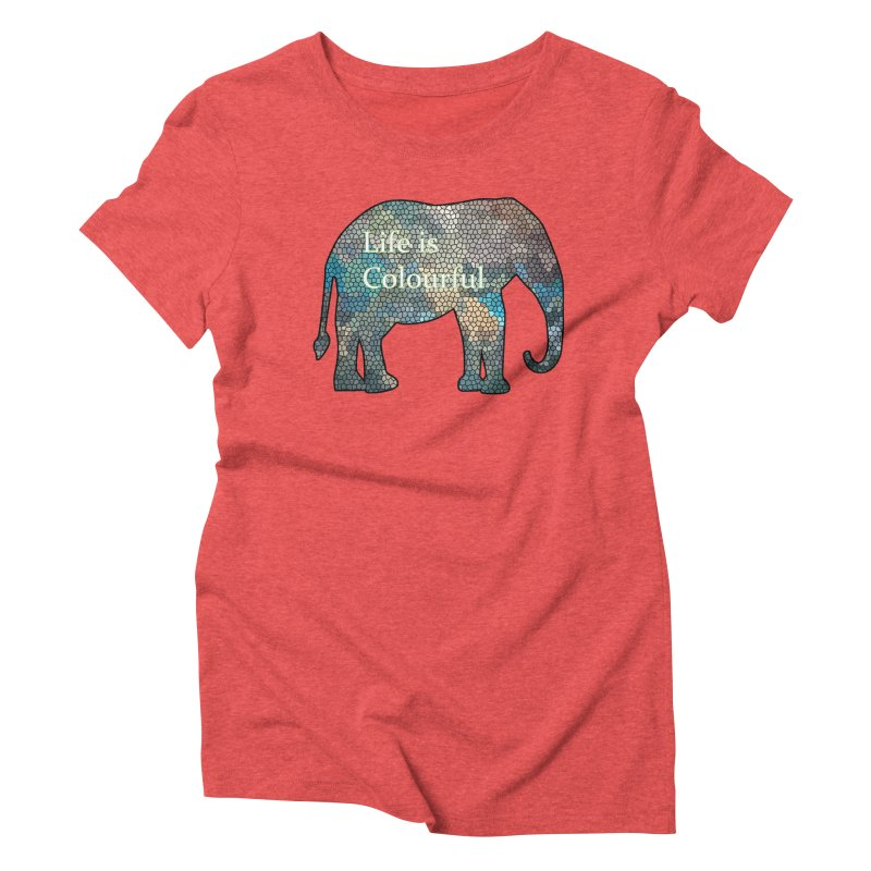 Elephant Mosaic Women's Triblend T-shirt by mirrortail's Shop