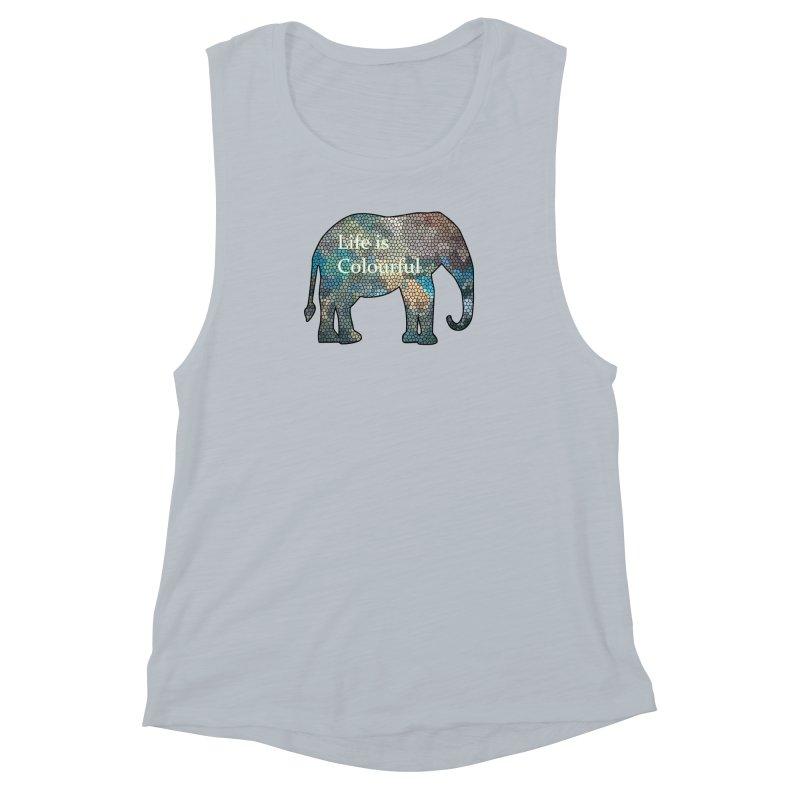 Elephant Mosaic Women's Muscle Tank by mirrortail's Shop