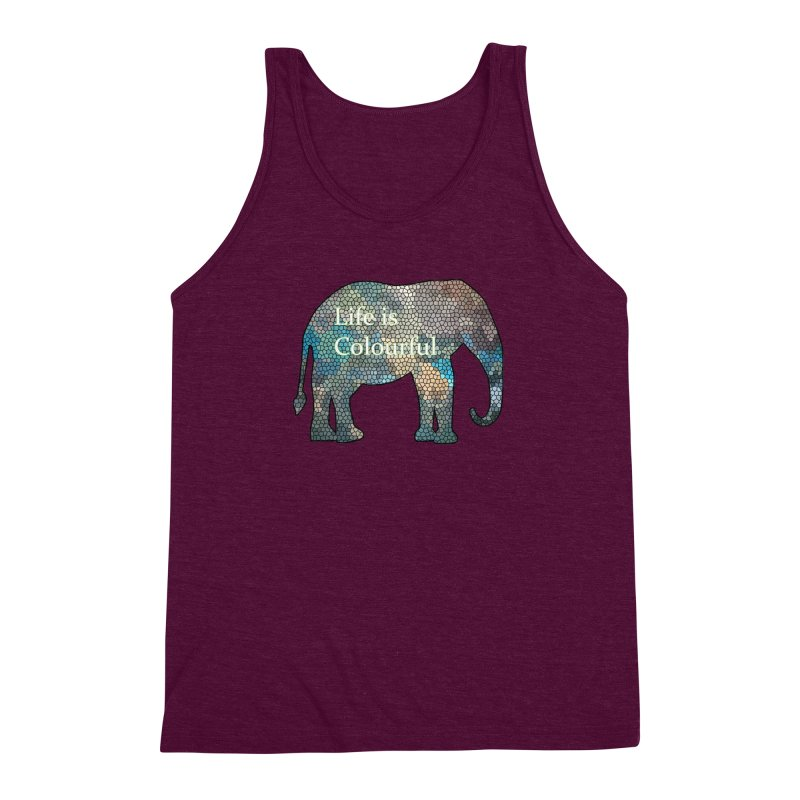 Elephant Mosaic Men's Triblend Tank by mirrortail's Shop
