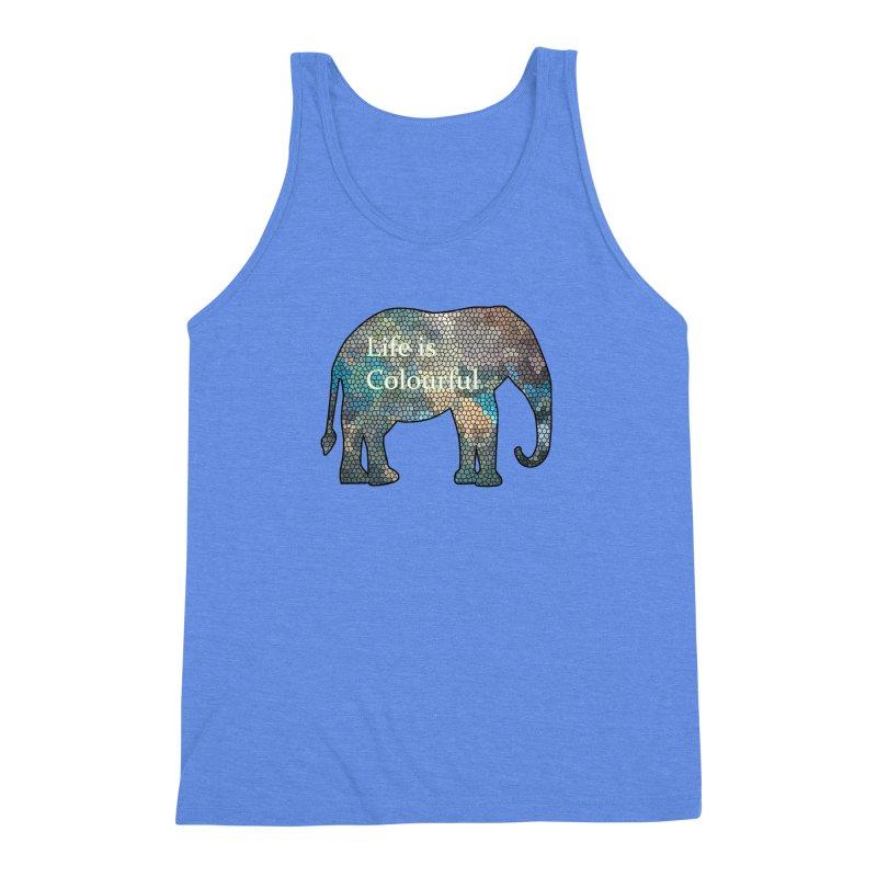 Elephant Mosaic Men's Triblend Tank by mirrortail's Shop