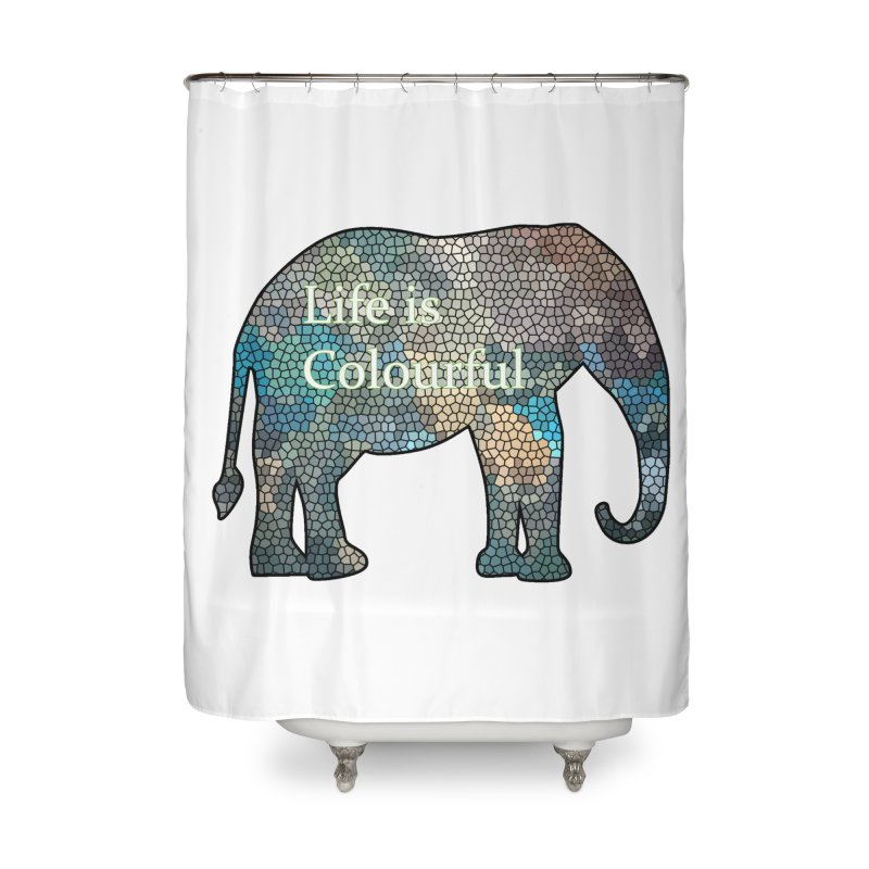 Elephant Mosaic Home Shower Curtain by mirrortail's Shop