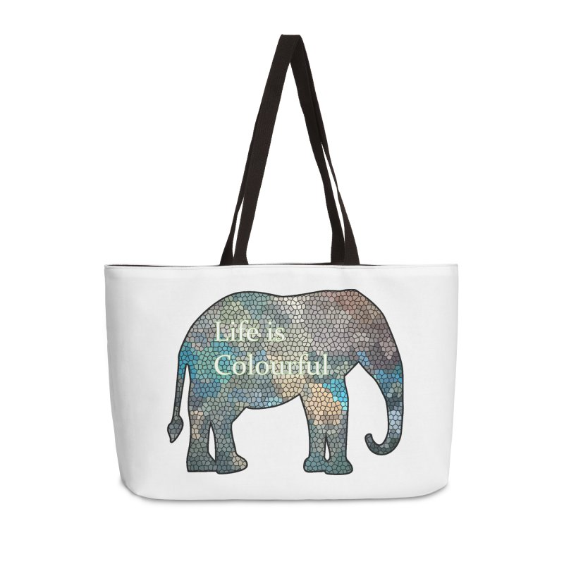 Elephant Mosaic Accessories Weekender Bag Bag by mirrortail's Shop