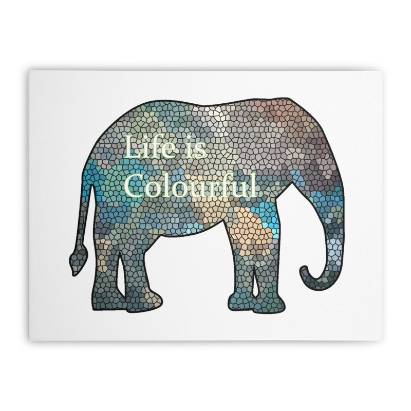 Elephant Mosaic Home Stretched Canvas by mirrortail's Shop