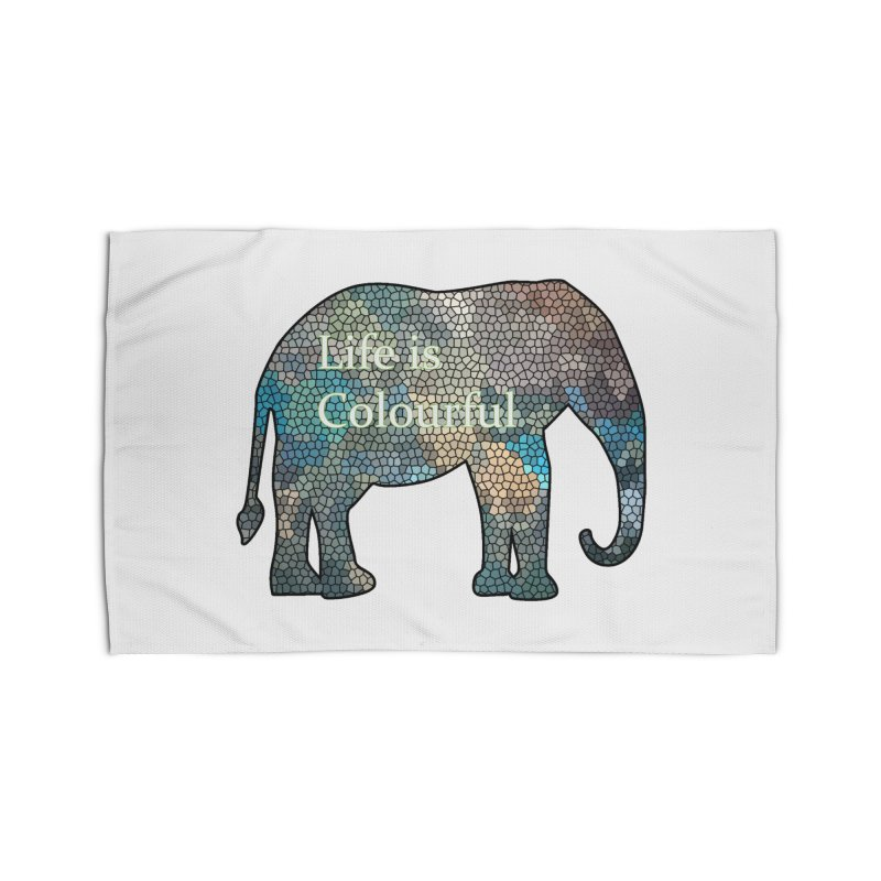 Elephant Mosaic Home Rug by mirrortail's Shop