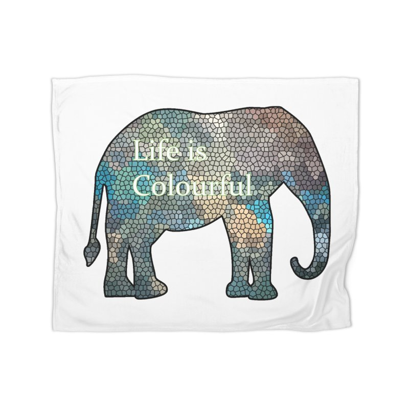 Elephant Mosaic Home Blanket by mirrortail's Shop