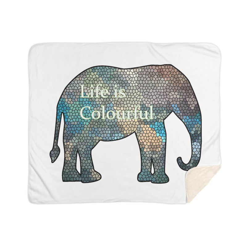 Elephant Mosaic Home Sherpa Blanket Blanket by mirrortail's Shop