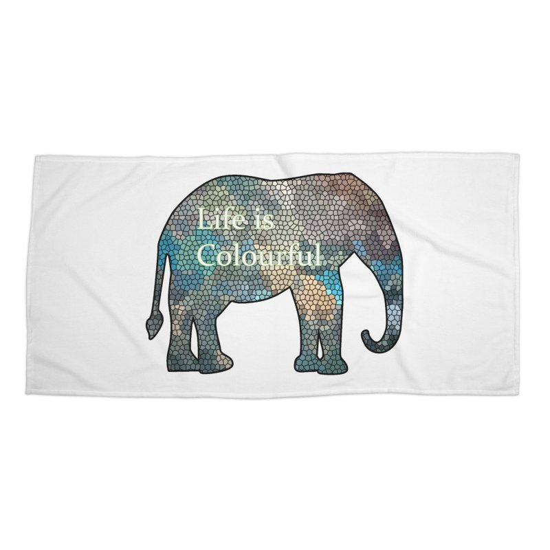 Elephant Mosaic Accessories Beach Towel by mirrortail's Shop