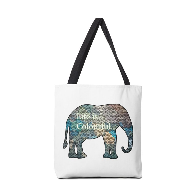 Elephant Mosaic Accessories Bag by mirrortail's Shop