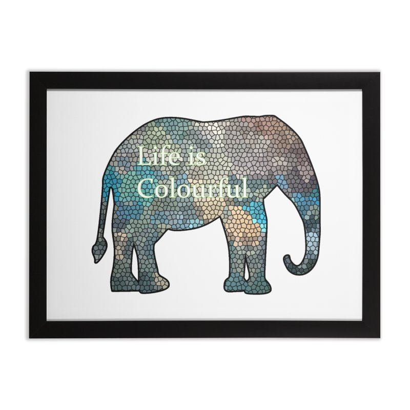 Elephant Mosaic Home Framed Fine Art Print by mirrortail's Shop
