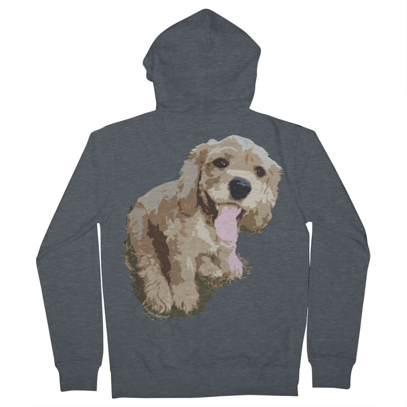 Lil Spaniel Women's French Terry Zip-Up Hoody by mirrortail's Shop