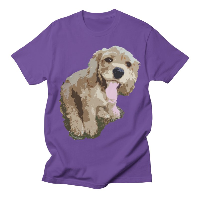 Lil Spaniel Men's Regular T-Shirt by mirrortail's Shop