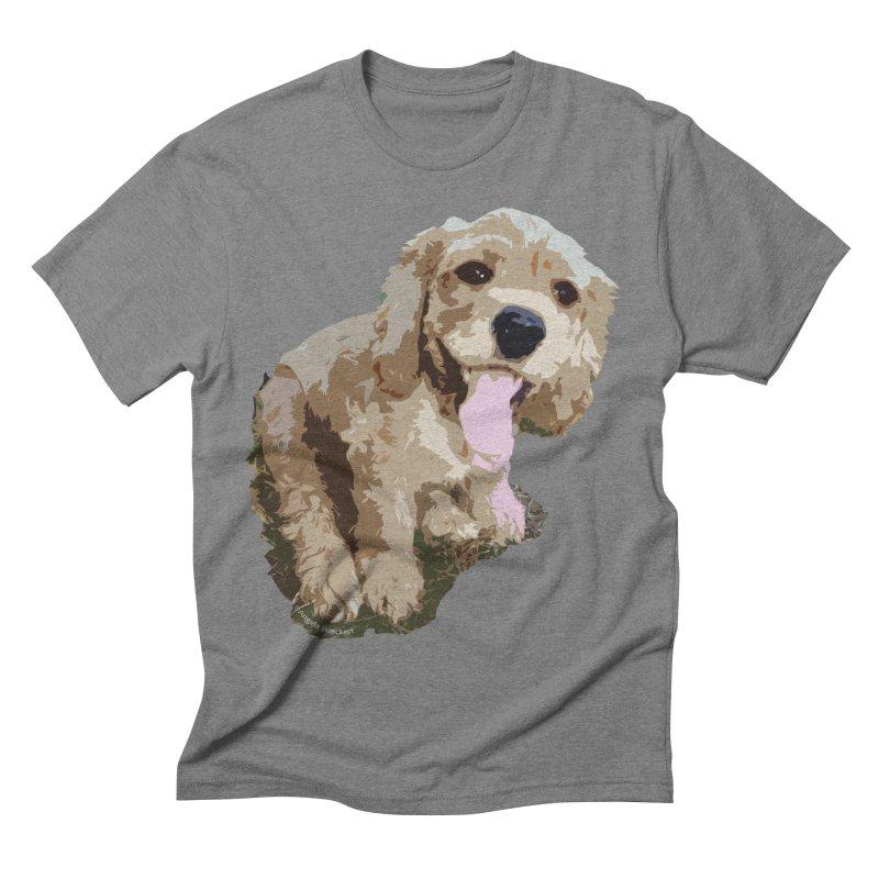 Lil Spaniel Men's Triblend T-Shirt by mirrortail's Shop