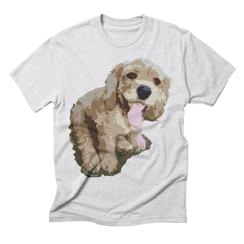 Lil Spaniel Men's Triblend T-Shirt by mirrortail's Shop