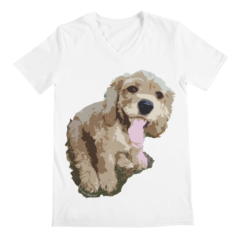 Lil Spaniel Men's Regular V-Neck by mirrortail's Shop