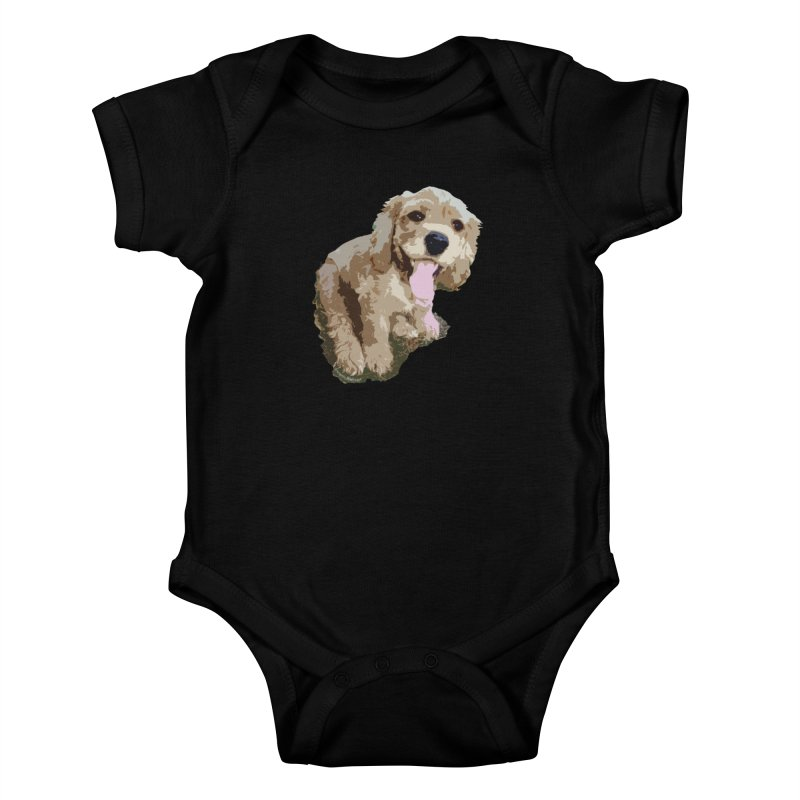 Lil Spaniel Kids Baby Bodysuit by mirrortail's Shop