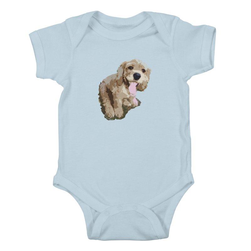 Lil Spaniel Kids Baby Bodysuit by mirrortail's Shop
