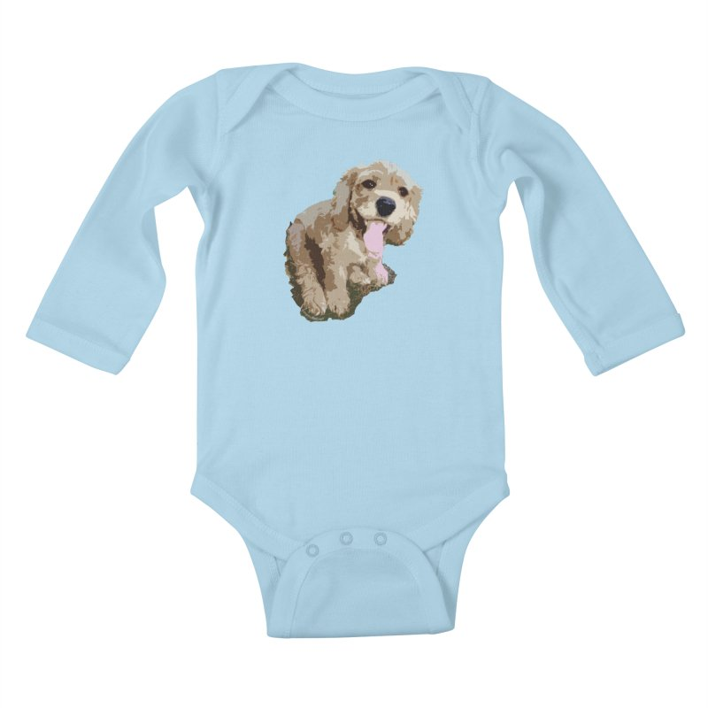 Lil Spaniel Kids Baby Longsleeve Bodysuit by mirrortail's Shop
