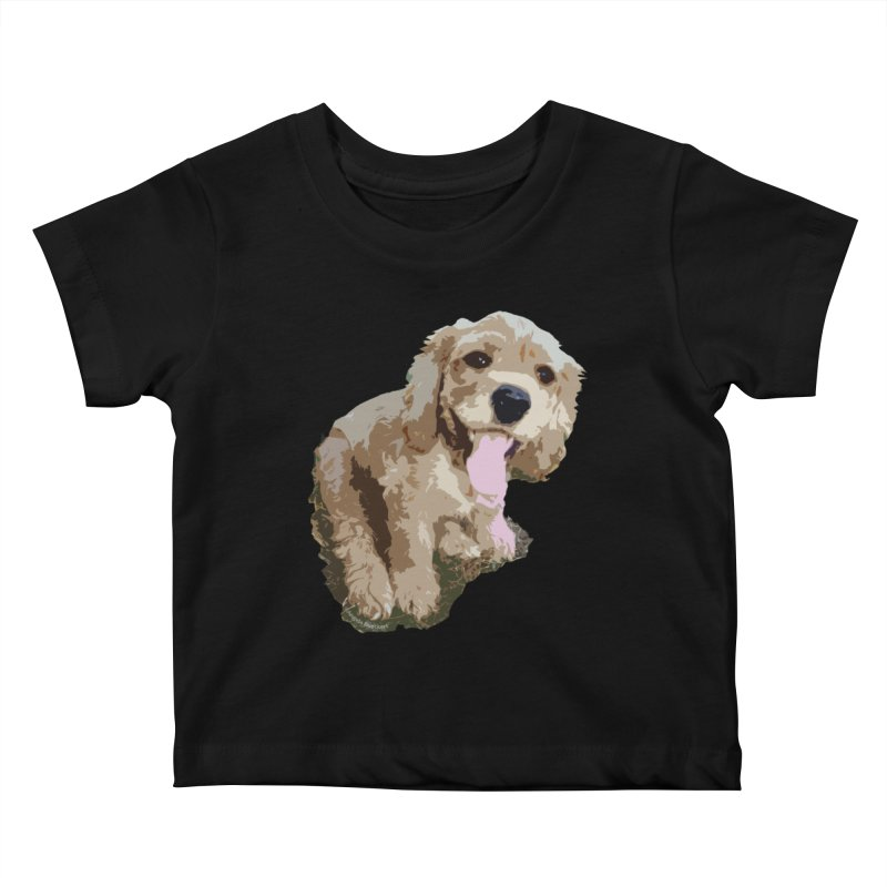 Lil Spaniel Kids Baby T-Shirt by mirrortail's Shop
