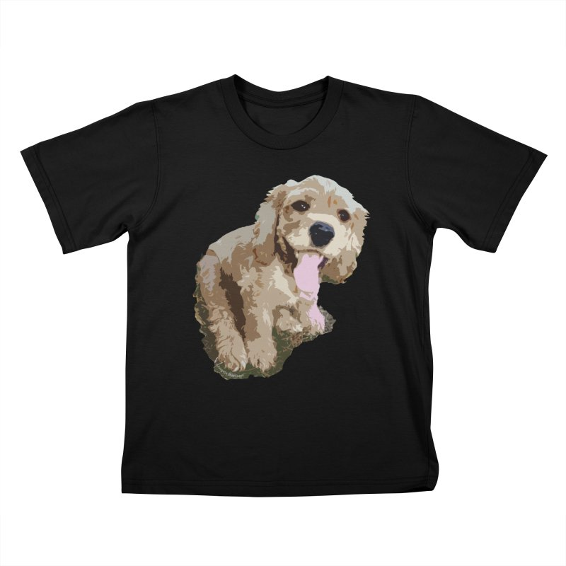 Lil Spaniel Kids T-shirt by mirrortail's Shop