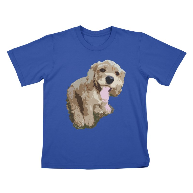 Lil Spaniel Kids T-Shirt by mirrortail's Shop