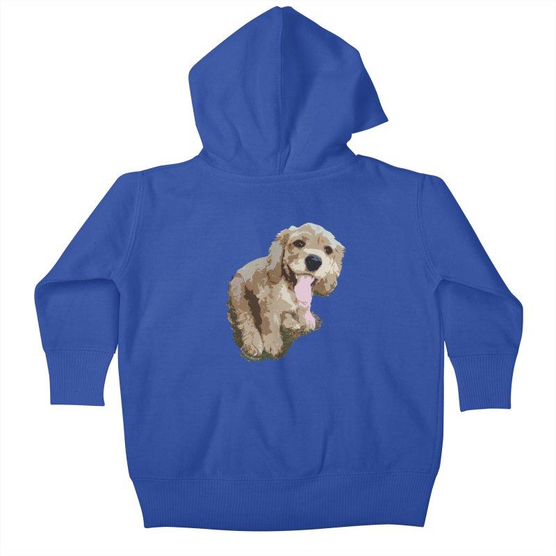 Lil Spaniel Kids Baby Zip-Up Hoody by mirrortail's Shop