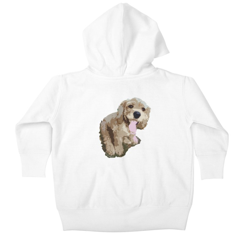 Lil Spaniel Kids Baby Zip-Up Hoody by mirrortail's Shop