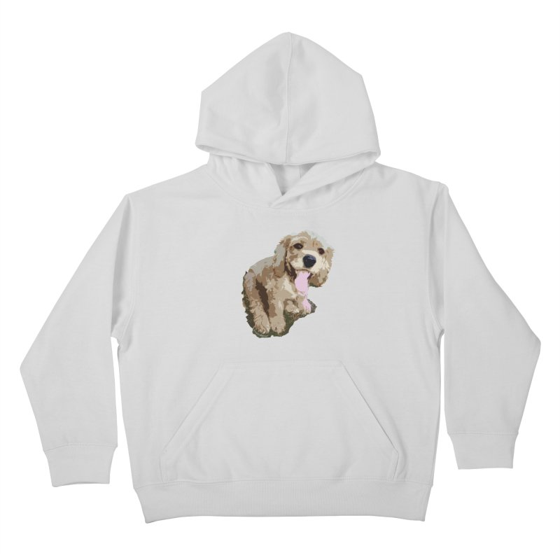 Lil Spaniel Kids Pullover Hoody by mirrortail's Shop