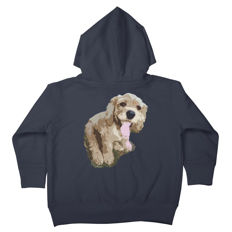 Lil Spaniel Kids Toddler Zip-Up Hoody by mirrortail's Shop