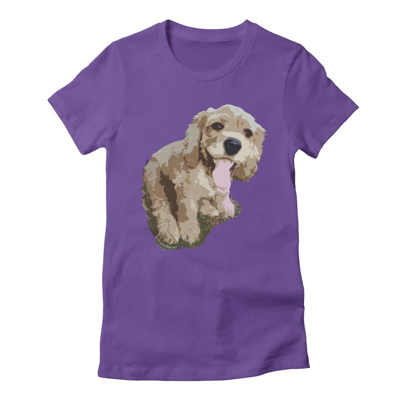 Lil Spaniel Women's Fitted T-Shirt by mirrortail's Shop
