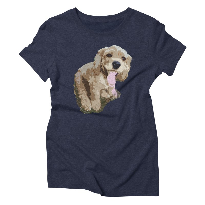 Lil Spaniel Women's Triblend T-Shirt by mirrortail's Shop