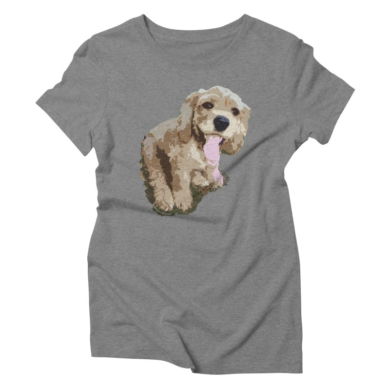 Lil Spaniel Women's Triblend T-Shirt by mirrortail's Shop