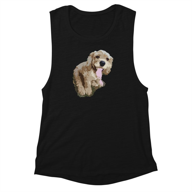 Lil Spaniel Women's Muscle Tank by mirrortail's Shop