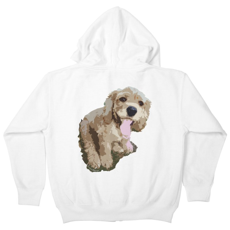 Lil Spaniel Kids Zip-Up Hoody by mirrortail's Shop