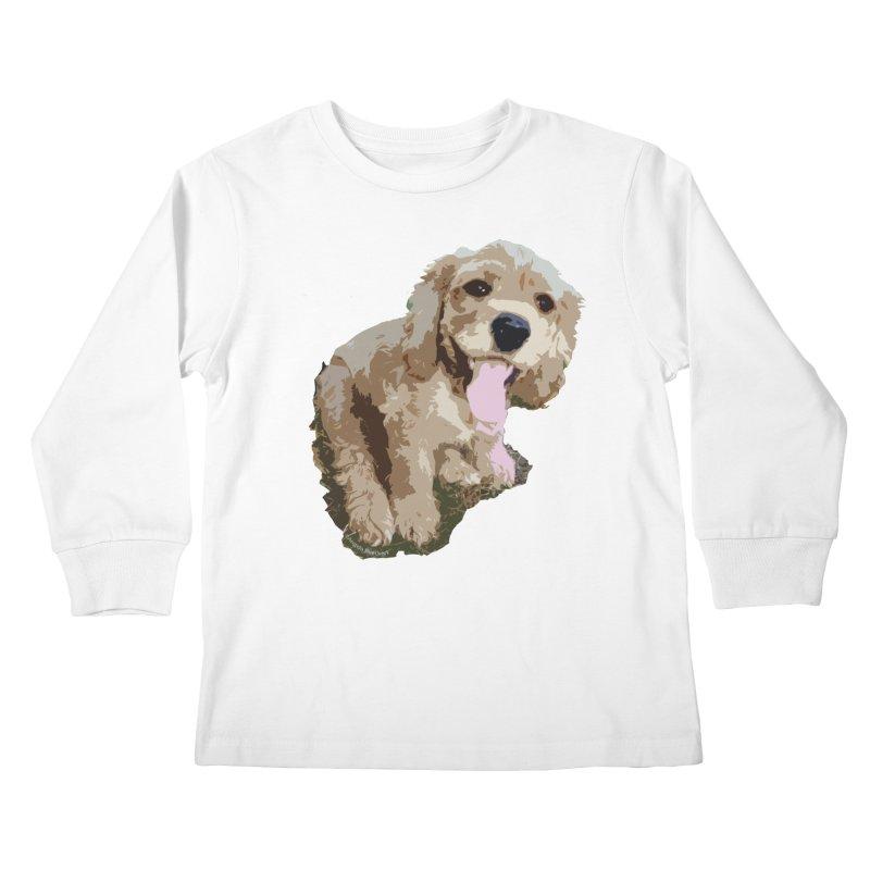 Lil Spaniel Kids Longsleeve T-Shirt by mirrortail's Shop