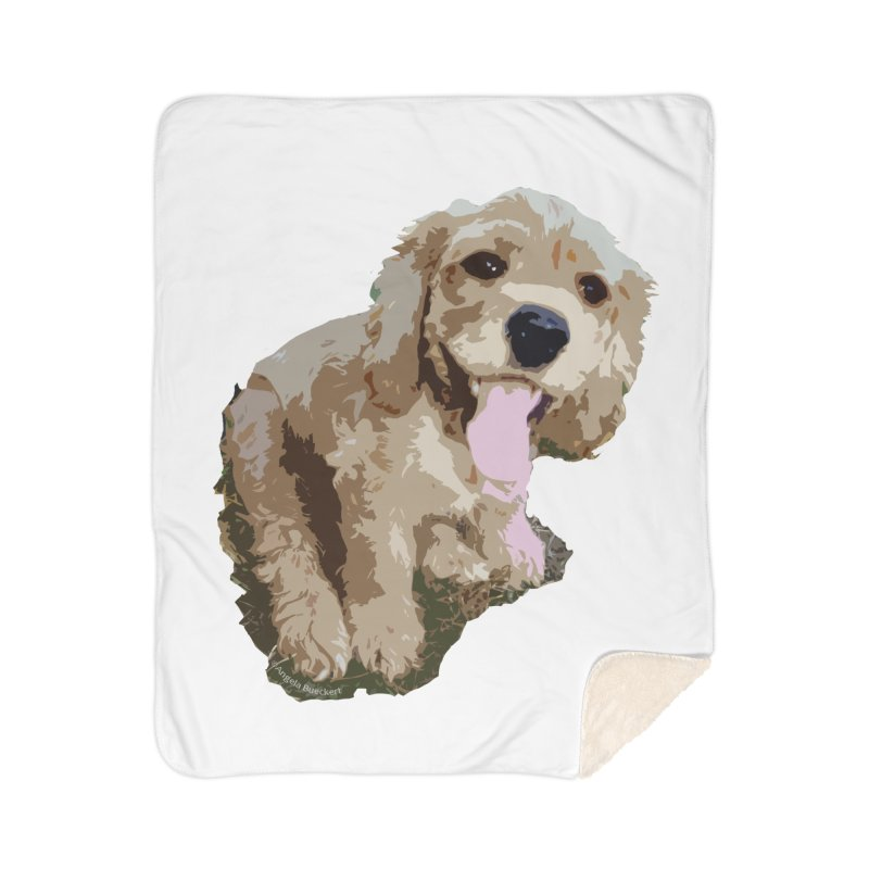 Lil Spaniel Home Sherpa Blanket Blanket by mirrortail's Shop