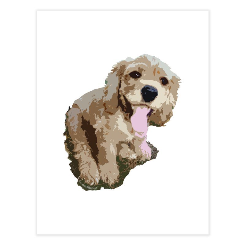 Lil Spaniel Home Fine Art Print by mirrortail's Shop