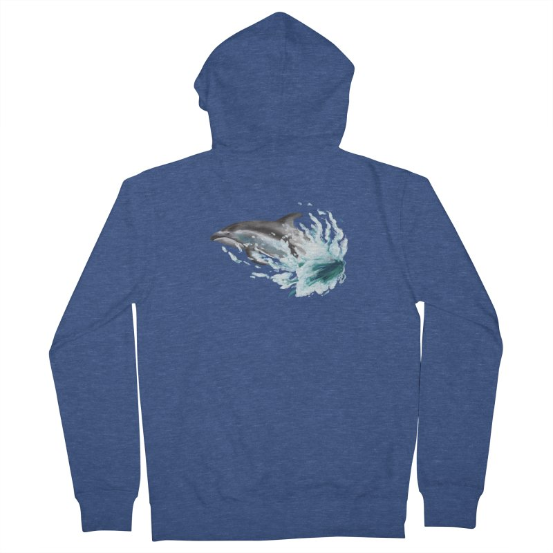 Pacific White-Sided Dolphin  Women's Zip-Up Hoody by mirrortail's Shop
