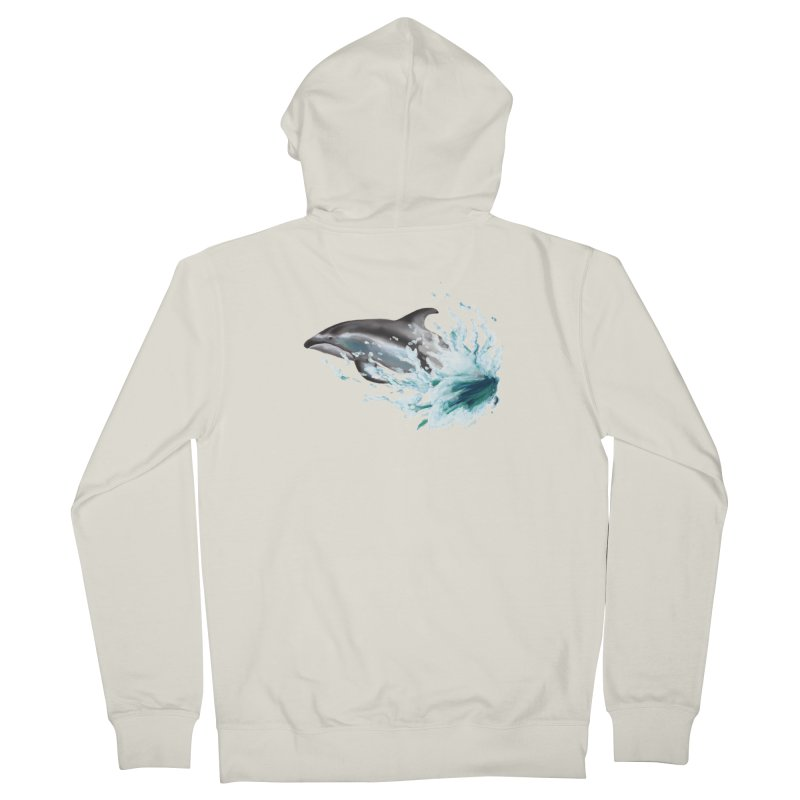 Pacific White-Sided Dolphin  Women's French Terry Zip-Up Hoody by mirrortail's Shop