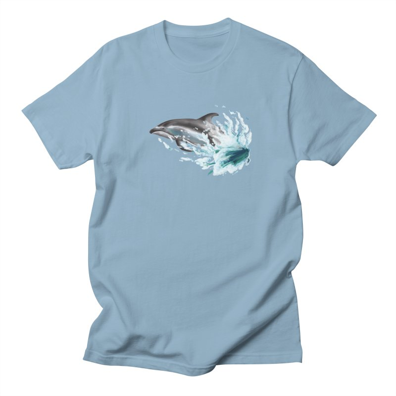 Pacific White-Sided Dolphin  Men's T-Shirt by mirrortail's Shop