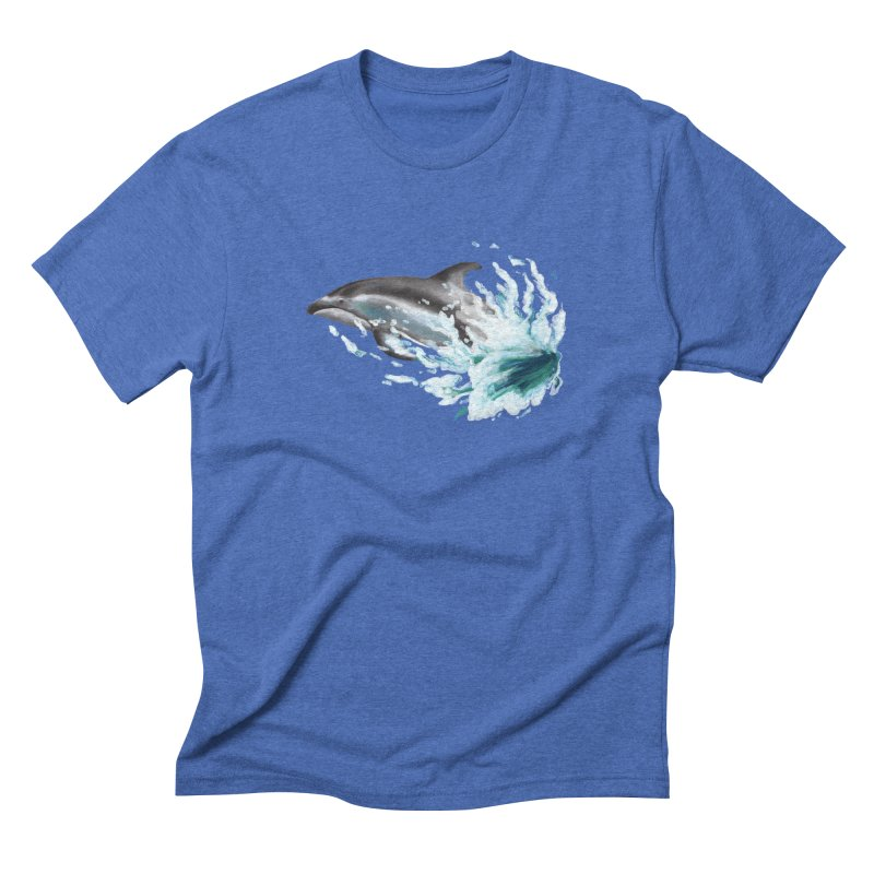 Pacific White-Sided Dolphin  Men's Triblend T-shirt by mirrortail's Shop