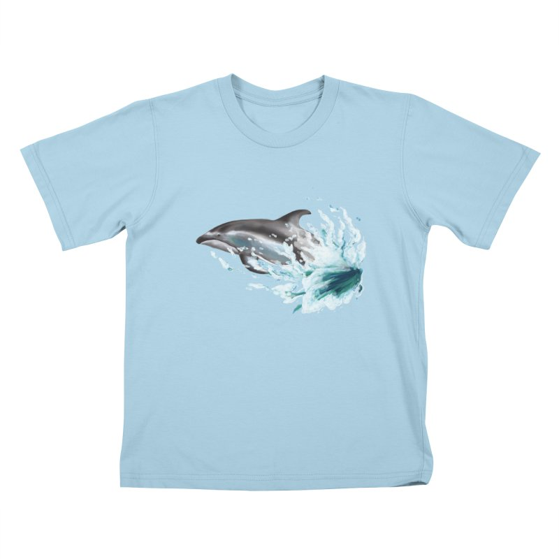 Pacific White-Sided Dolphin  Kids T-Shirt by mirrortail's Shop