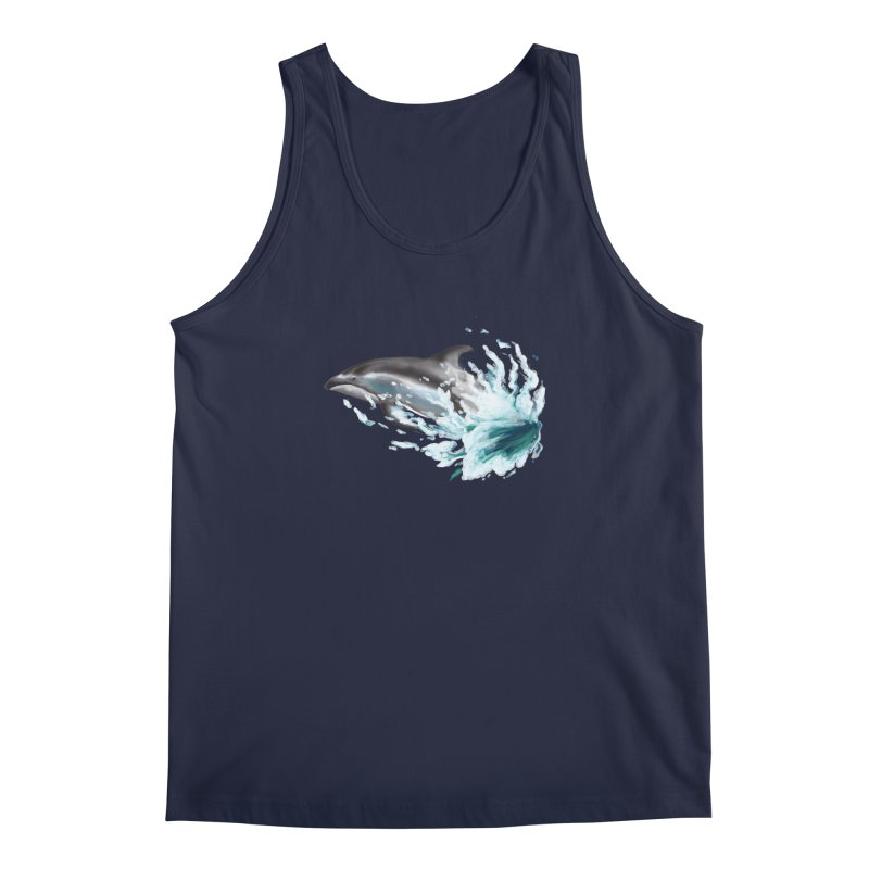 Pacific White-Sided Dolphin  Men's Tank by mirrortail's Shop